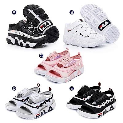 [時時樂限定6折] FILA KIDS 童鞋-BARRICADE運動鞋/GGUMI運動涼鞋 (5款任選)(19-23.5cm)