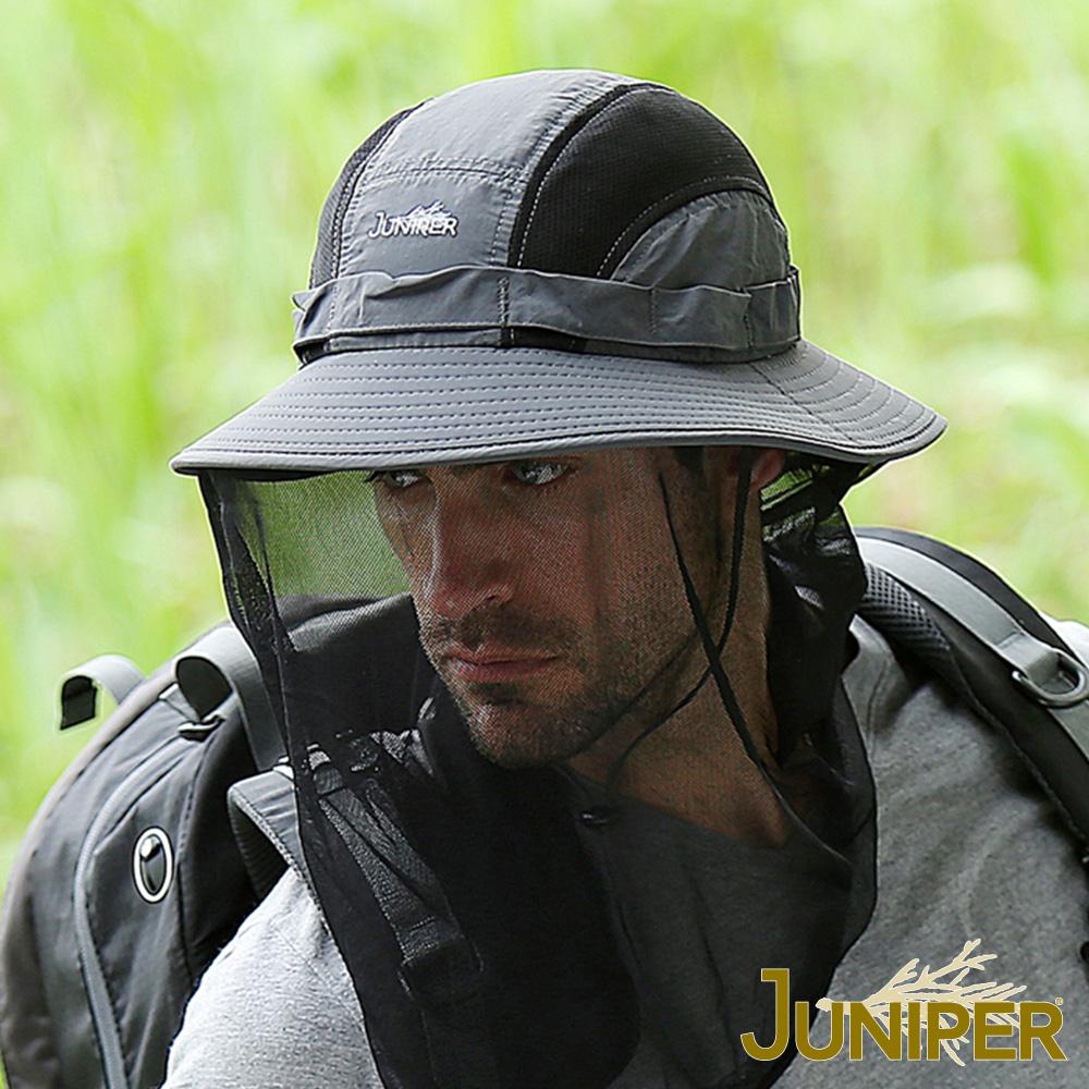 JUNIPER 戶外抗UV防蜂防蚊蟲遮陽高頂蚊帳漁夫帽