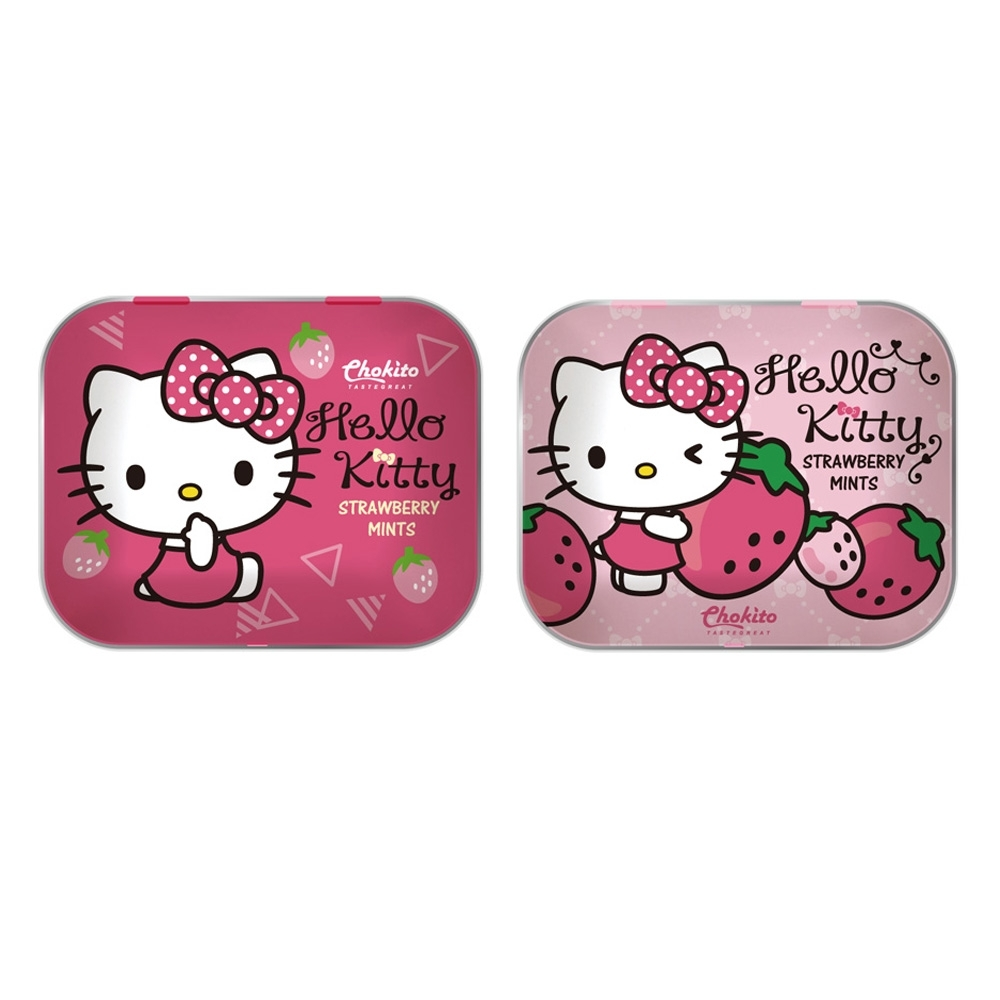 巧趣多Kitty無糖薄荷錠-草莓 14g(二款隨機出貨)