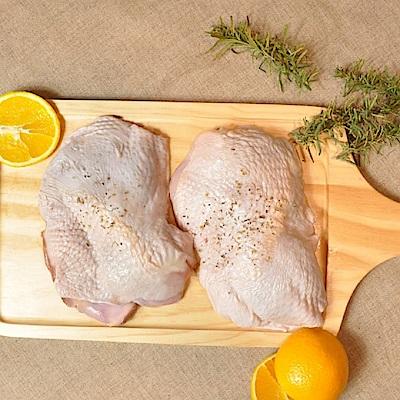 【一午一食】SGS無骨雞腿排x6支(280g↑/支-無毒土雞)