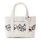 Sanrio HELLO KITTY溫情貼心系列燈芯絨刺繡鑲飾迷你提包