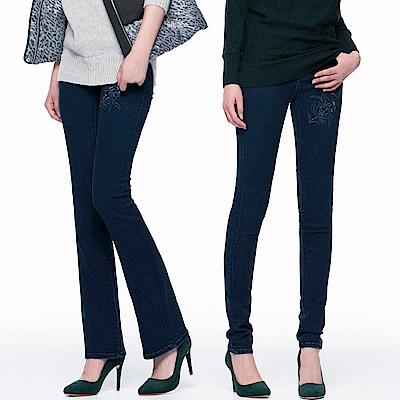 時時樂限定BRAPPERS女款新美腳系列-彈性鑲鑽牛仔褲共二款
