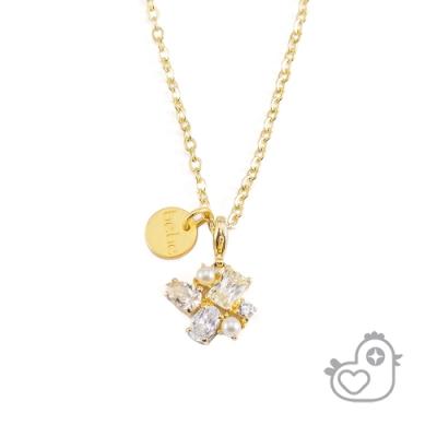 【彩糖鑽工坊】彩糖貝貝  鋯石&珍珠 項鍊 親子&閨蜜 彩糖貝貝繽紛寶石系列