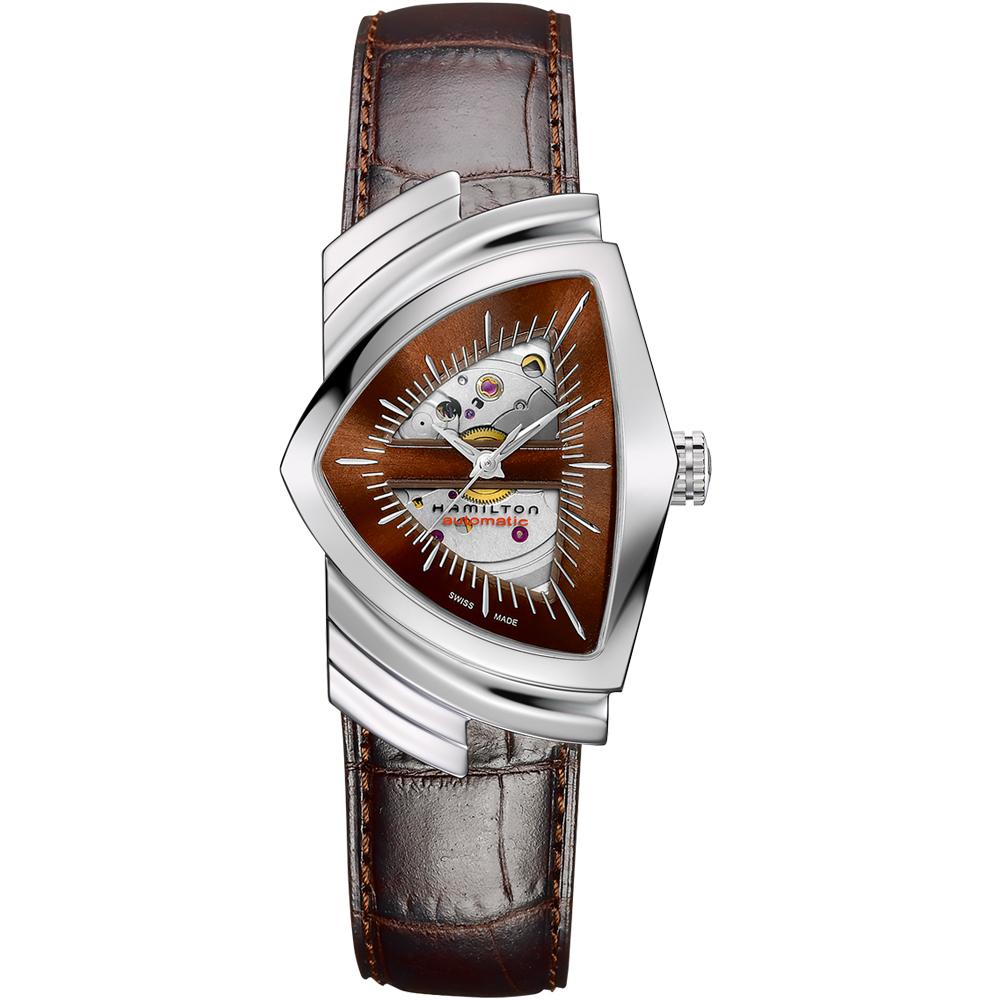 Hamilton漢米爾頓Veutura MIB星際戰警開芯機械錶(H24515591)咖啡