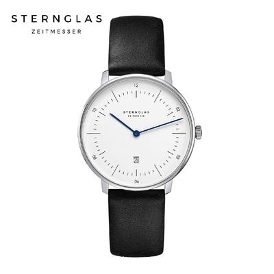 STERNGLAS 德國希丹格斯 S01-ND01-KL05 簡約XS白盤文青石英錶(黑錶帶) 33mm 女錶