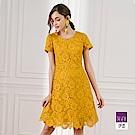 ILEY伊蕾 花朵縷空蕾絲A字洋裝(黃)