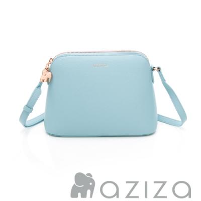 aziza ELSIE 斜背貝殼包 水藍