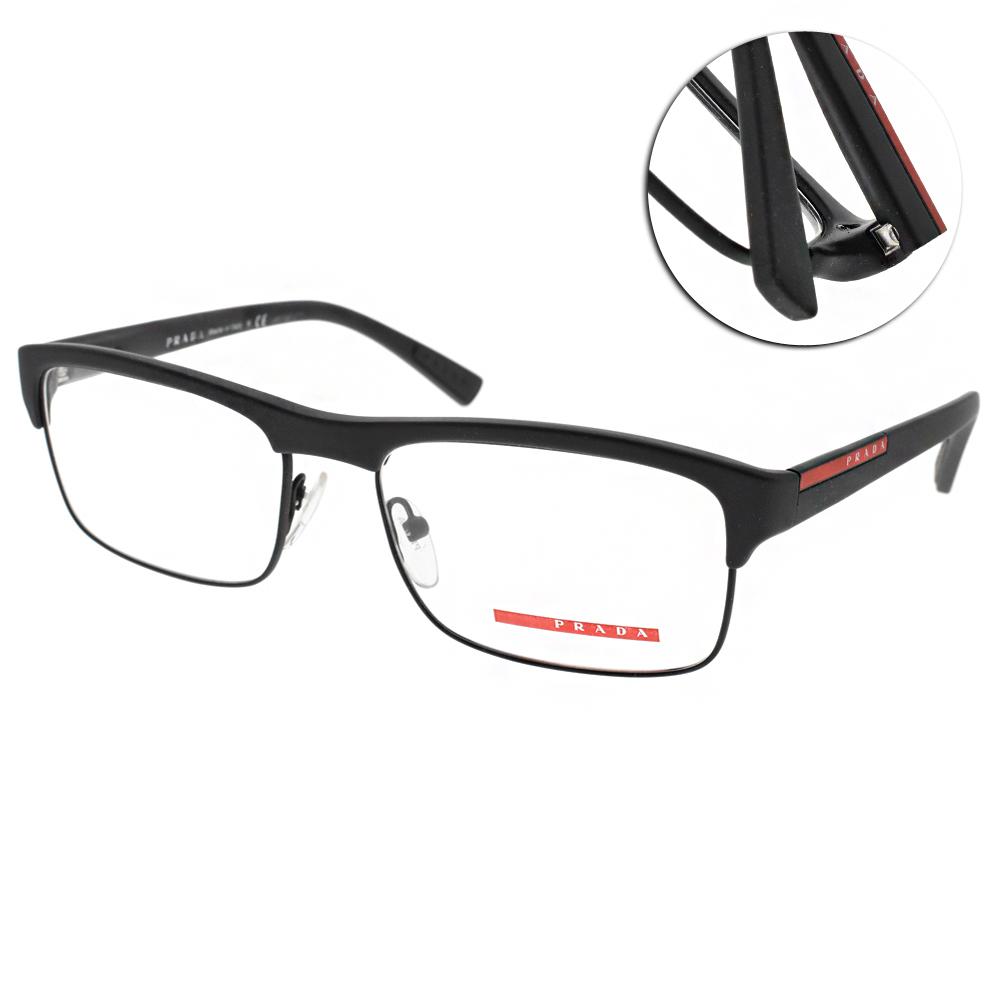 PRADA光學眼鏡 復古經典/霧黑 #VPS06F DG01O1 @ Y!購物