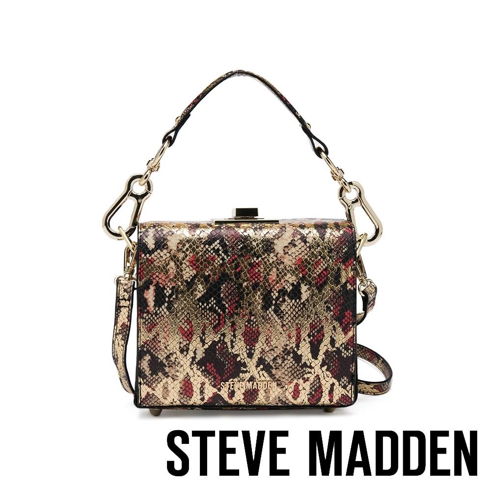 STEVE MADDEN-BBOXED 華麗復古方形手提側背包-金色