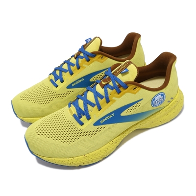 Brooks 慢跑鞋 Launch 8 運動休閒 男鞋 平穩型 避震 回彈 透氣 合腳 黃 藍 1103581D711