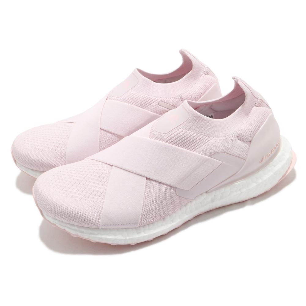 adidas 慢跑鞋 Ultraboost Slip On DNA 女鞋 愛迪達 無鞋帶 襪套式 緩震 穿搭 休閒 粉 白 GZ9847