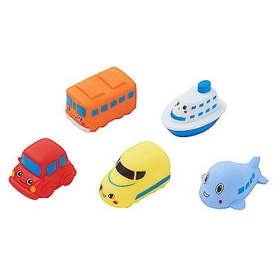 西松屋 Smart Angel 交通工具造型洗澡玩具(5入組)