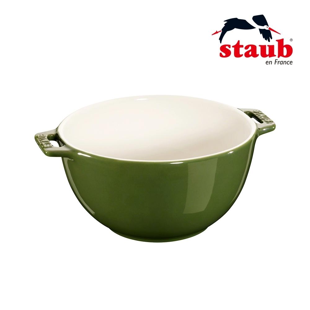 法國Staub 陶瓷沙拉缽 18cm 羅勒綠