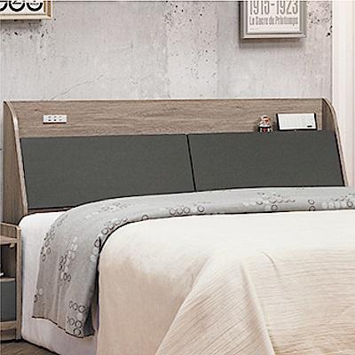 綠活居 馬布斯時尚5尺雙色雙人床頭箱(不含床底)-151.5x24.5x95cm免組