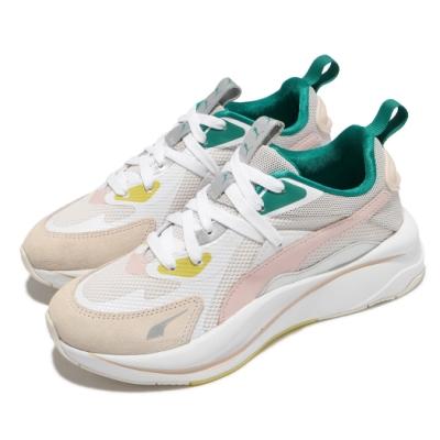 Puma 休閒鞋 RS Curve OQ 女鞋 厚底 老爹鞋 穿搭 粉嫩 少女 米 白 38065901