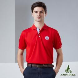 JOHN DUKE約翰公爵輕紳士素面休閒POLO衫_紅色(915V1620)
