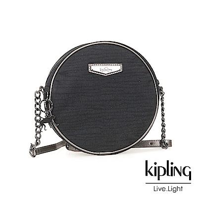 Kipling 斜背包 復古質感黑-小