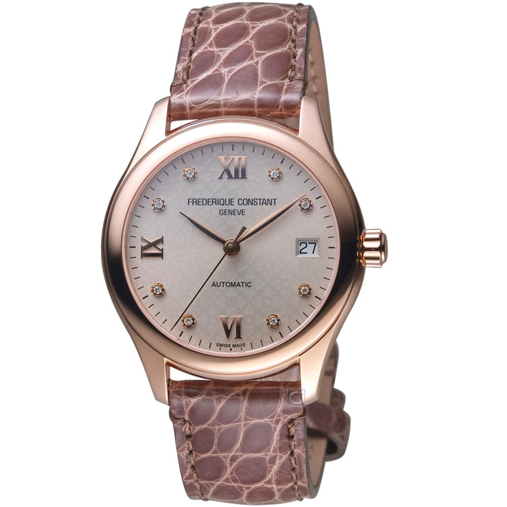 康斯登CONSTANT經典時尚機械女腕錶(FC-303LGD3B4)