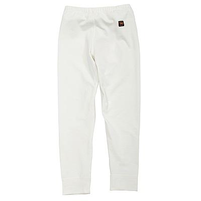 【Wildland 荒野】童遠紅外線彈性保暖褲白
