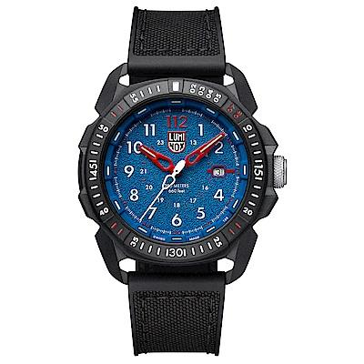 LUMINOX 雷明時ICE-SAR Arctic 冰島搜救隊聯名腕錶-藍x白時標45mm