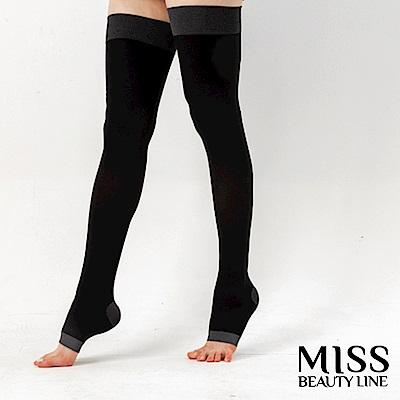 MISS BEAUTY LINE 韓國原廠遠紅外線/陶瓷纖維美雕襪-日間美雕長襪型