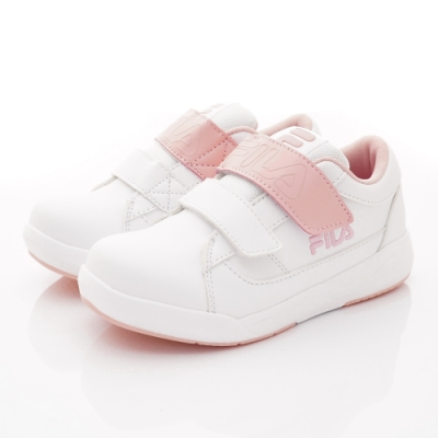 FILA頂級童鞋 義式簡約運動鞋款 FO02U-155白粉(中大童段)
