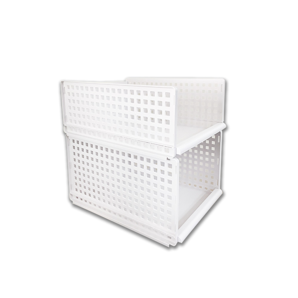 【Incare】DIY多功能雙層可拆滑軌收納箱(小號+大號)