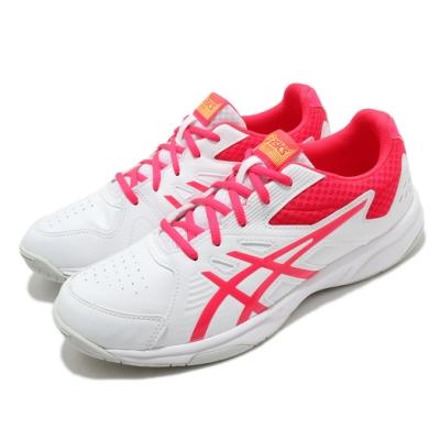 Asics 網球鞋 Court Slide 運動 女鞋 亞瑟士 入門 耐用 穩定 膠底 白 粉 1042A030101