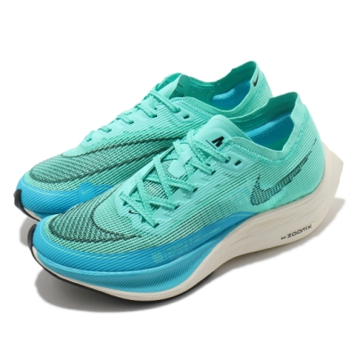 Nike 慢跑鞋 Vaporfly Next% 2 運動 女鞋 ZoomX 氣墊 舒適 避震 路跑 健身 綠 藍 CU4123300
