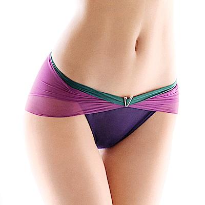 黛安芬-艾聖思裸透魅麗系列低腰內褲 M-EL 深紫