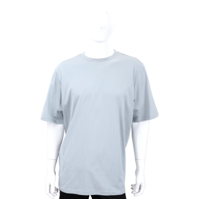 Y-3 YOHJI SKULL TEE 刺繡骷髏頭印花雲灰色棉質短袖T恤