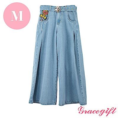 Grace gift-美少女戰士聯名電繡牛仔長褲 M