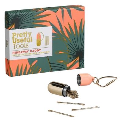 【Pretty Useful Tools】隨身髮夾迷你收納罐-內附金色髮夾