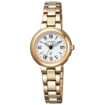 CITIZEN xC 梵蒂岡之夜電波時計腕女錶(ES9003-55A)-25mm