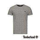 Timberland 男款中麻灰圓領修身短袖T恤 A1MH6