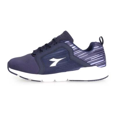 DIADORA 女韻律鞋-慢跑 訓練 路跑 深藍紫淺灰