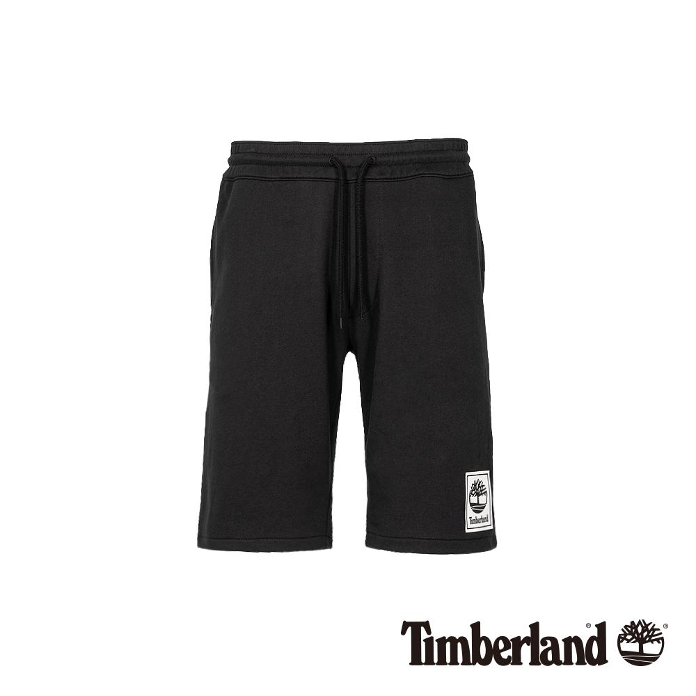 Timberland 男款黑色抽繩鬆緊腰休閒短褲|A1YFK