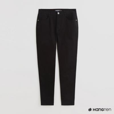 Hang Ten - 男裝 - 雙口袋素面休閒長褲 - 黑