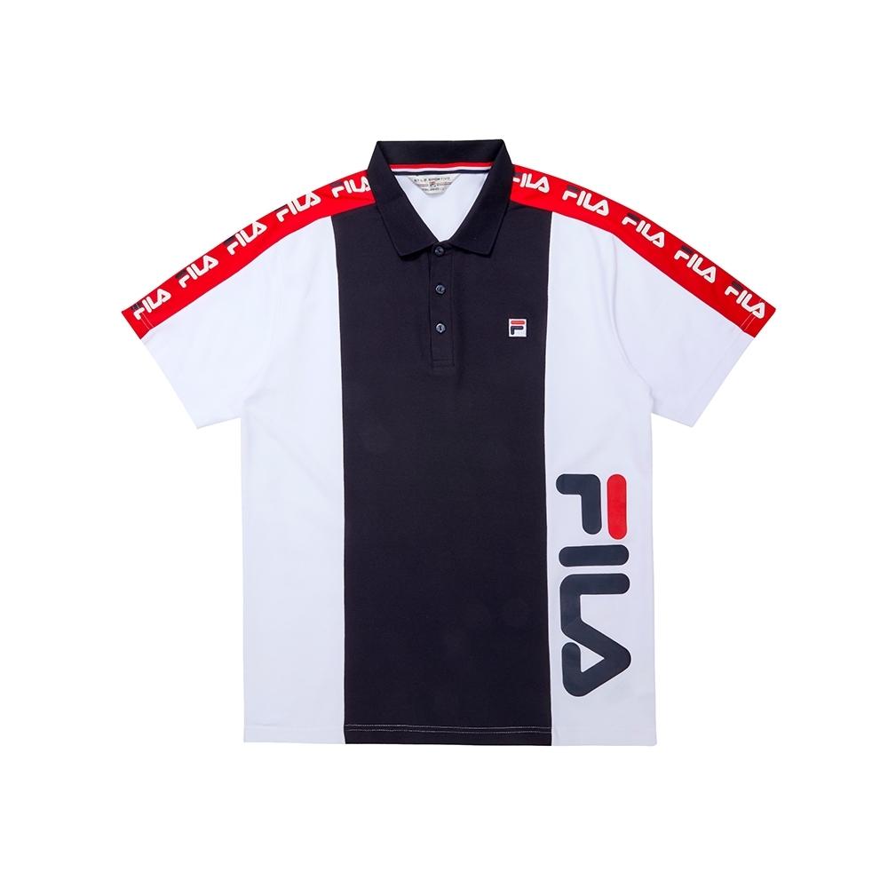 FILA 男短袖POLO衫-白色 1POU-1451-WT