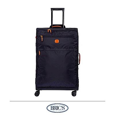 BRICS 義大利 28吋 超輕量 小牛皮防水布箱 深藍色