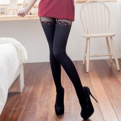 褲襪款連身開檔絲襪 不透膚百搭款塑型性感褲襪 流行E線