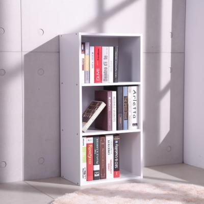LOGIS邏爵-日式質感三層櫃 開放收納櫃 鞋櫃 書櫃 櫥櫃 收納架