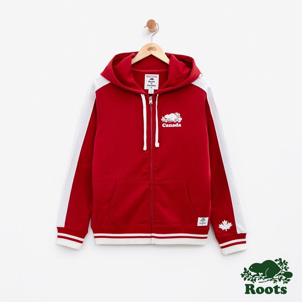 女裝Roots加拿大系列-海狸連帽外套-紅色