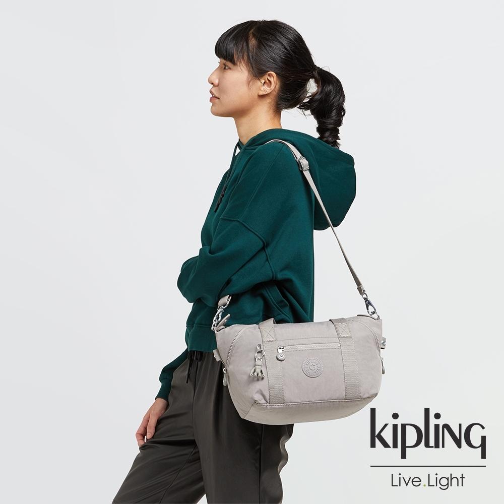 Kipling 溫柔沉穩灰手提側背包-ART MINI
