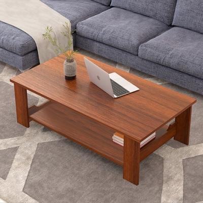 【Incare】木紋風格雙層收納茶几/大容量(桌長100cm/四色可選)
