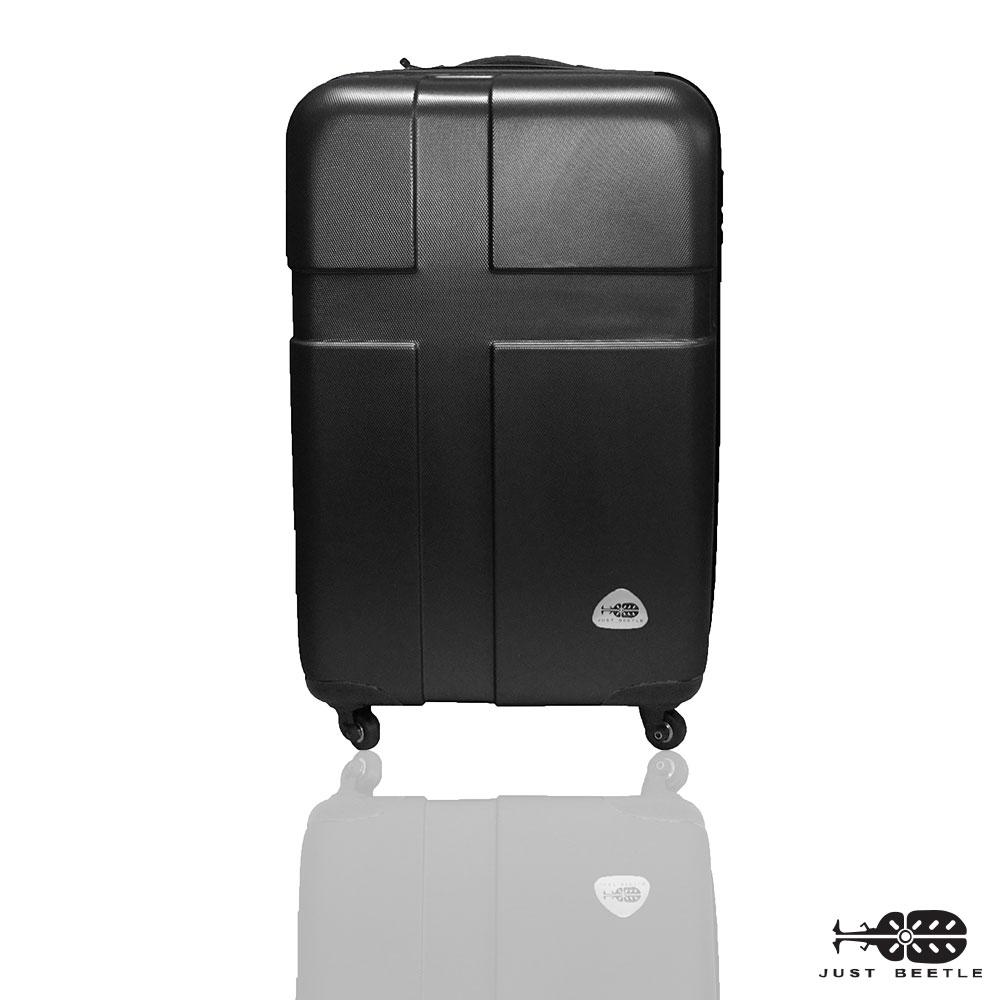 Just Beetle 愛琴海系列經典20吋 輕硬殼登機箱行李箱-時尚黑