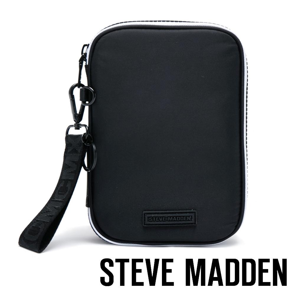 STEVE MADDEN-BROY 潮流品牌多功能化妝包/文具筆袋-黑色