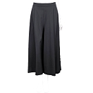 PINKO 側緞布拼接黑色打摺寬褲