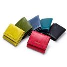 leaper CONTACTS油臘皮多縫線女用短夾錢包 共5色