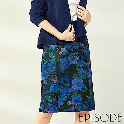EPISODE - 薔薇之戀花朵造型短裙(藍)